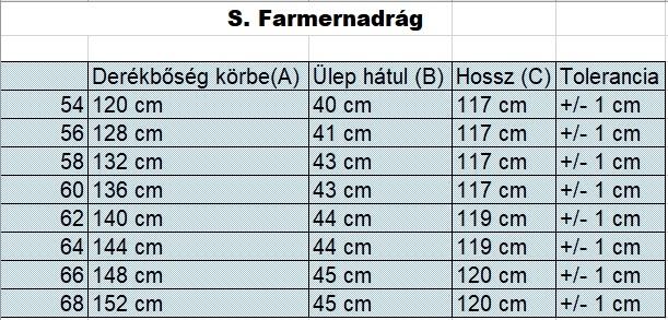nagyméretű-férfi-koptatott-farmernadrág-mérettáblázat